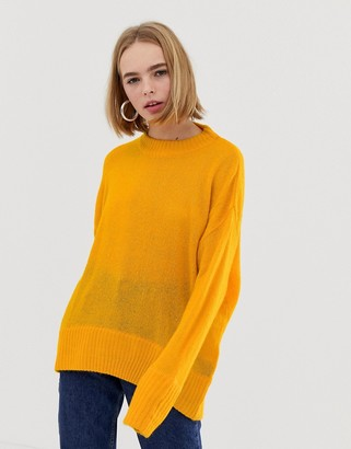 Weekday Soft Knit Jumper in yellow