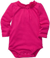Osh Kosh OshKosh Girls' Jersey Bodysuit with Embellished Neck Detail