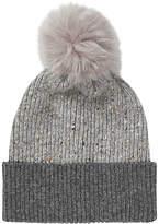 Jigsaw Iona Donegal Pom Hat, Grey