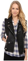 Blank NYC Vegan Leather Moto Vest in Evil Ways