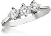 Forzieri 0.29 ct Three-Stone Diamond 18K Gold Ring