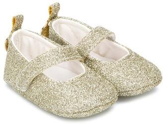Miss Blumarine Glitter-Effect Ballerinas