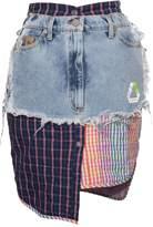 Natasha Zinko recycle denim mini skirt