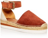 See by Chloe Glyn Ankle Strap Platform Espadrille Flats