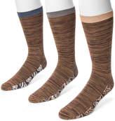 Muk Luks Men's 3-Pack Patterned Footbed Socks
