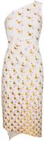 Peter Pilotto one shoulder floral print dress