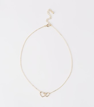 New Look Linked Heart Pendant Necklace