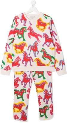 Stella Mccartney Kids TEEN horse-print pyjamas