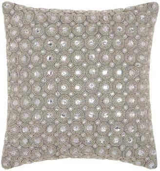Kathy Ireland Marble Beads Silver Throw Pillow