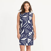 Ralph Lauren Woman Printed-Front Sweater Dress