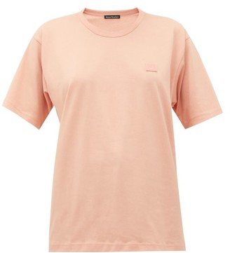 Acne Studios Nash Face Cotton-jersey T-shirt - Womens - Light Pink