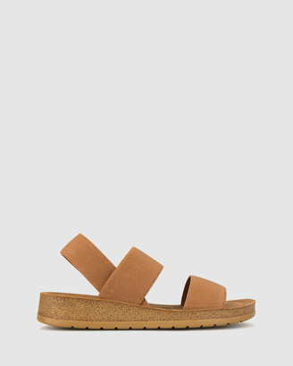Zeroe - Women's Brown Wedge Sandals - Rise Elastic Low Wedge Sandals - Size One Size, 7 at The Iconic