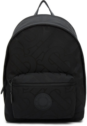 Burberry Black Recycled Monogram Paddy Backpack