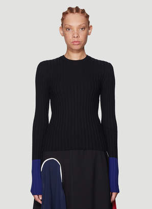 J.W.Anderson Ribbed Knit Sweater in Black