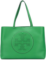 Tory Burch perforated logo tote - women - Leather - One Size