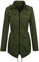 Chaos Theory Women's Plain Mac Jacket Fishtail Hooded Showerproof Parka Raincoat - US 6