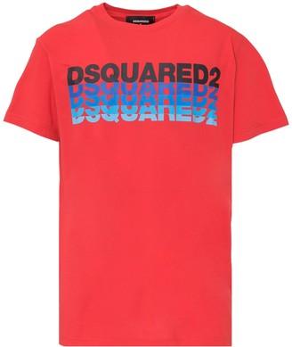 DSQUARED2 Layered Logo Print Crewneck T-Shirt
