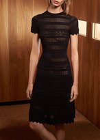Alexis Paisley Knit Dress Black