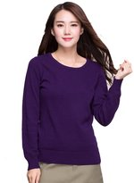 Pandy Women's 100% Cashmere Slim Fit Crewneck Sweater M