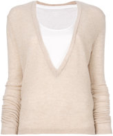 Majestic Filatures deep V-neck sweater
