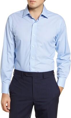 Lorenzo Uomo Trim Fit Star Print Dress Shirt