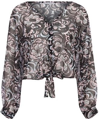 Kith&Kin Print Chiffon Floral Shirt