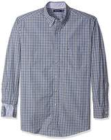 Nautica Men's Big and Tall Long Sleeve Check Plaid Button Down Shirt