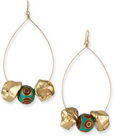 Devon Leigh Turquoise & Coral Beaded Nugget Earrings