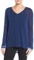 NYDJ Cutaway Back Layer Look Sweater (Petite)