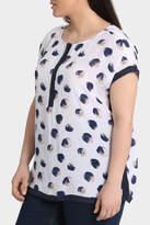 Short Sleeve Contrast Band Overshirt