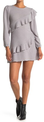 Velvet Torch Cascading Ruffle Sweater Dress