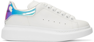 Alexander McQueen SSENSE Exclusive Off-White Holographic Oversized Sneakers
