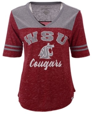 Colosseum Women's Washington State Cougars Mr Big V-neck T-Shirt