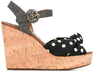 Dolce & Gabbana Polka Dot Wedge Sandals
