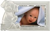 """Malden Baby 2-Tone Silver Puppy Picture Frame, 3"""" x 5"""" - Silver"""