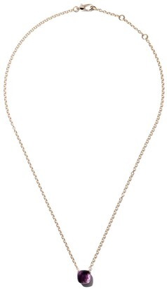 Pomellato 18kt rose & white gold Nudo amethyst pendant necklace