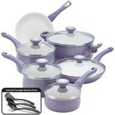 Farberware New Traditions Speckled Aluminum Nonstick 14-Piece Cookware Set in Lavender