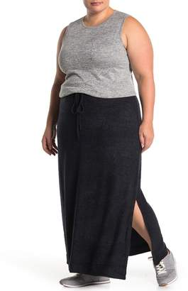 Barefoot Dreams Side Vent Knit Maxi Skirt (Plus Size)