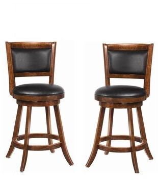 "Wildon Home Jackman Bar & Counter Swivel Stool Seat Height: Counter Stool (24.25"" Seat Height)"