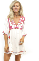 Free People Embroidered Tulum Dress in Ivory Combo