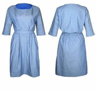 Format Neat Dress - blue / XS