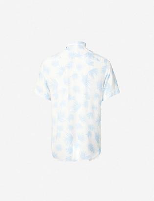 HUGO Floral-print regular-fit woven shirt