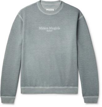Maison Margiela Oversized Logo-Embroidered Cotton-Jersey Sweatshirt