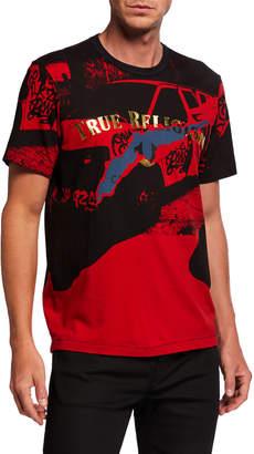 True Religion Men's Foil Engineered Graphic T-Shirt