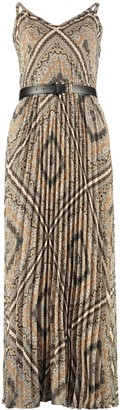 MICHAEL Michael Kors Printed Crepe Long Dress