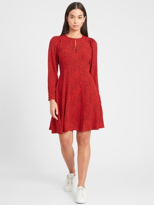 Banana Republic Petite Puff-Sleeve Mini Dress