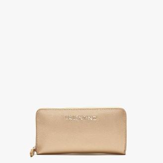 Valentino By Mario Valentino Divina Gold Zip Around Wallet