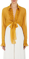 BY.Bonnie Young BY. Bonnie Young Women's Silk Tie-Front Blouse