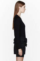 Comme des Garcons Black wool Bow Sweater