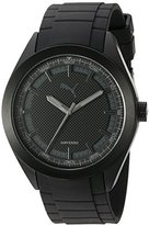 Puma Quartz Stainless Steel and Polyurethane Watch, Color:Black (Model: PU103321006)